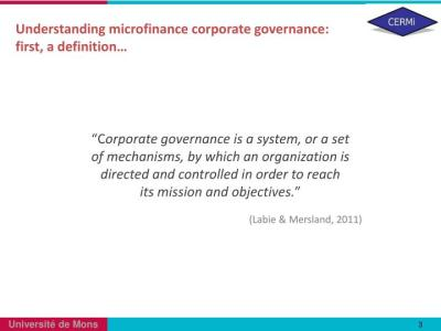 PPT - Cooperation with Banks and Corporate Governance: Key Lessons for the Development of MFIs ...