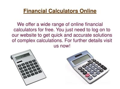 PPT - Mortgage Payment Calculators PowerPoint Presentation - ID:7122799