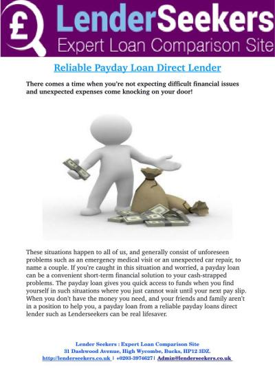PPT - Payday Loan Direct Lender Get You a Payday Loan on Time PowerPoint Presentation - ID:7337628