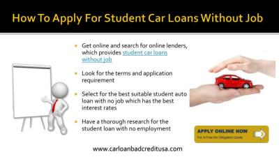 PPT - College Student Car Loans With No Job PowerPoint Presentation - ID:7409838