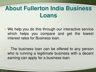 PPT - Fullerton India Business Loans, Apply For Fullerton India Business Loans Online ...