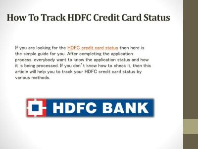 How To Check Credit Card Status Hdfc - Card.DealsReview.CO