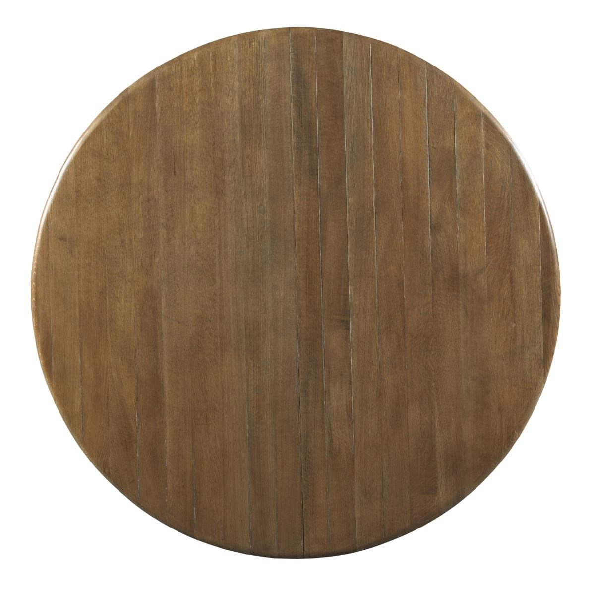 rustic round kitchen table Kincaid Furniture Stone Ridge Transitional Rustic Round Dining Table with One Extension Leaf Becker Furniture World Kitchen Tables