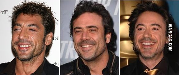 Javier Bardem  Jeffrey Dean Morgan   Robert John Downey  Jr  look     Javier Bardem  Jeffrey Dean Morgan  amp  Robert John Downey  Jr  look like