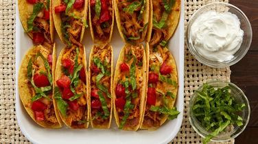 Easy Oven-Baked Chicken Tacos recipe from Betty Crocker