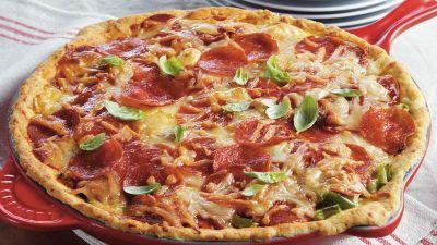 Deep Dish Pizza Pie recipe from Betty Crocker