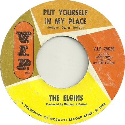 45cat - The Elgins - Put Yourself In My Place / Darling Baby - V.I.P. - USA - V.I.P.-25029