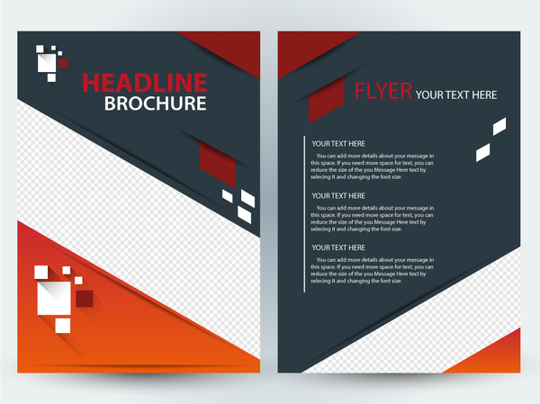 Flyer brochure template design with diagonal illustration Free     flyer brochure template design with diagonal illustration