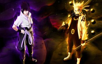 Anime Naruto Sasuke Uchiha Naruto Uzumaki HD Wallpaper   Background Image