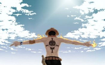 Anime One Piece Portgas D. Ace Cloud Fire HD Wallpaper | Background
