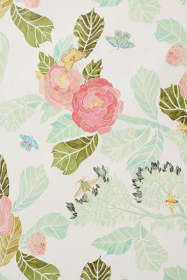 Watercolor Flora Wallpaper | Anthropologie