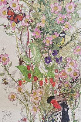 Bird Sanctuary Wallpaper | Anthropologie