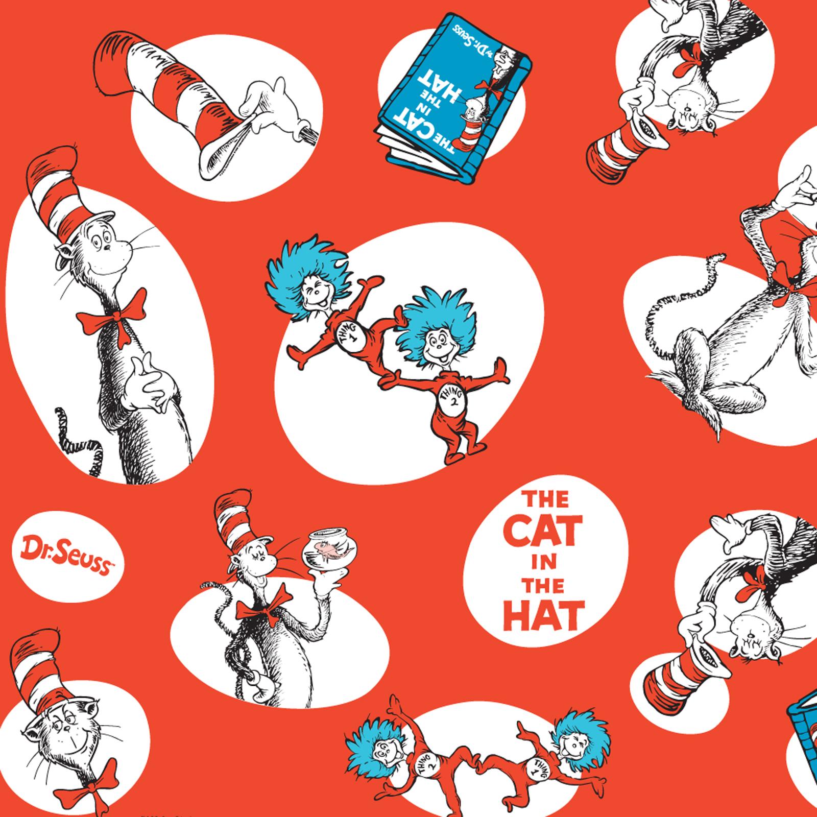 Dr. Seuss Jumbo Gift Wrap | BirthdayExpress.com
