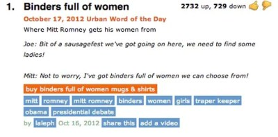 Binders Full of Women - The 40 Funniest Entries on UrbanDictionary.com | Complex