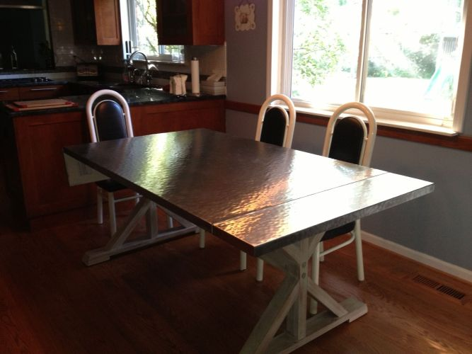 steel dining table stainless steel kitchen table Furniture Dining Tables Metal