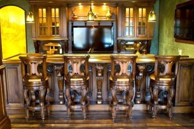 Hand Crafted Custom Wood Home Bars And Pubs by Chateau Designs | CustomMade.com