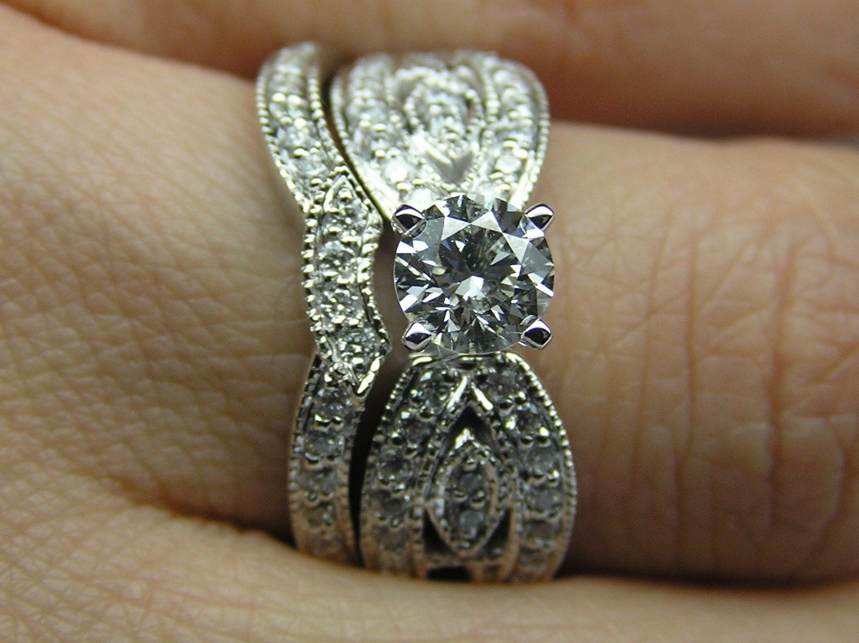 western wedding rings sets western wedding rings Western wedding rings sets Custom Made Round Diamond Butterfly Engagement Ring Matching Wedding Band Bridal