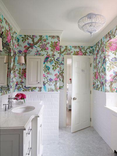10+ Bathroom Wallpaper Designs | Bathroom Designs | Design Trends - Premium PSD, Vector Downloads