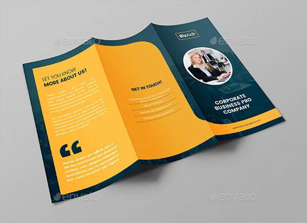 50 Tri Fold Brochures   Design Trends   Premium PSD  Vector Downloads Pro Business Tri Fold Brochure