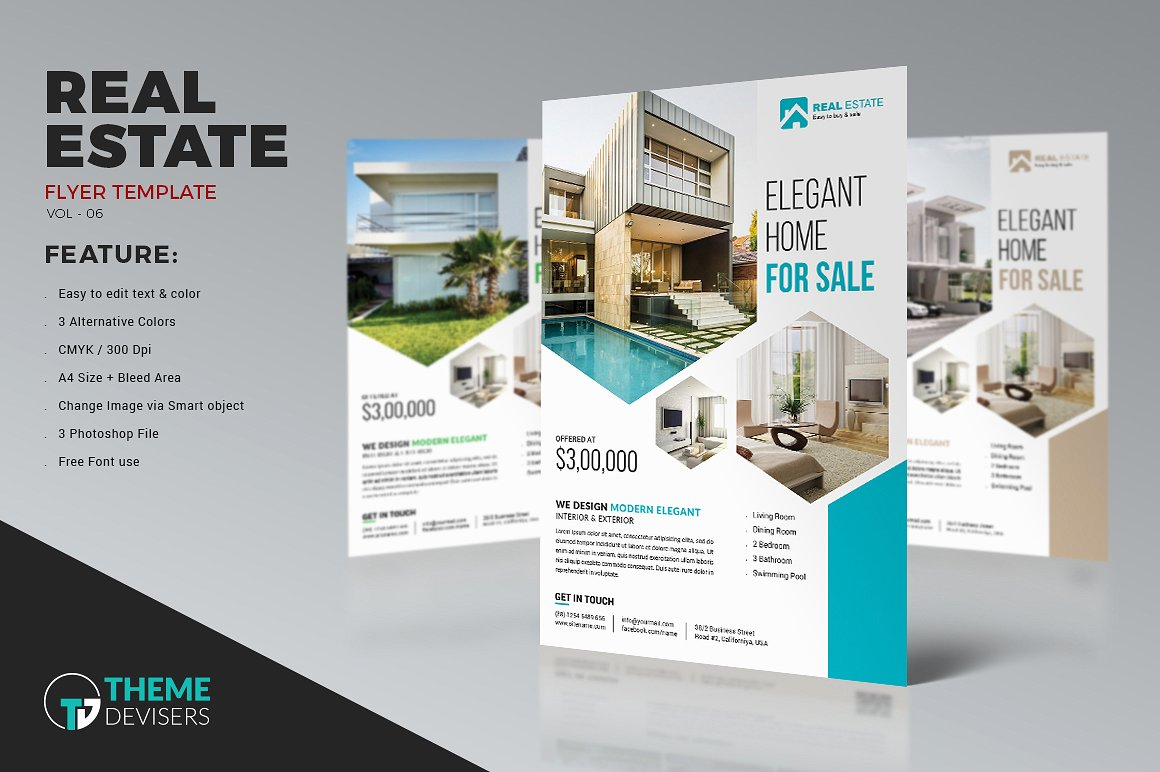 real estate flyers design   Melo in tandem co real estate flyers design