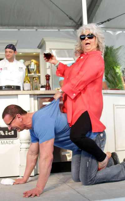 Paula Deen Rides Food Network's Robert Irvine Like a Horse: I'm Back in the Saddle After N-Word ...