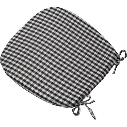 kitchen chair seat cushions Gingham Check Tie On Seat Pad 16