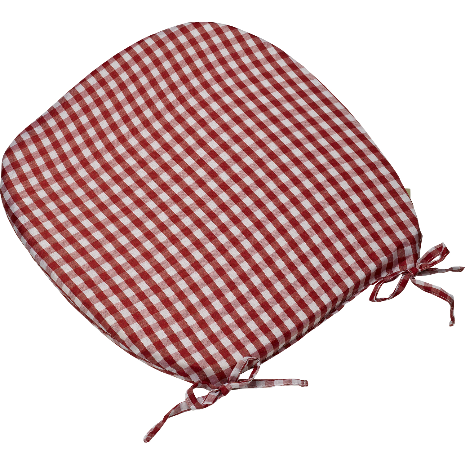 kitchen chair seat cushions with ties kitchen chair seat cushions Kitchen chair seat cushions with ties Gingham Check Tie On Seat Pad 16 X