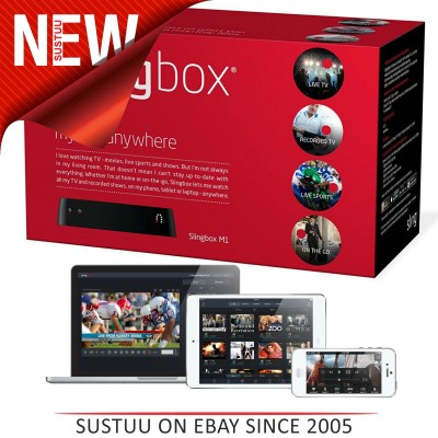 Phone?Fits Any Cable or Satellite NEW//Slingbox M1?Watch TV Anywhere on PC/Tablet/Phone?Fits Any ...