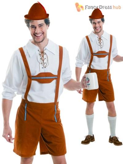 Mens Oktoberfest Bavarian Costumes German Lederhosen Fancy Dress Outfit Beer | eBay