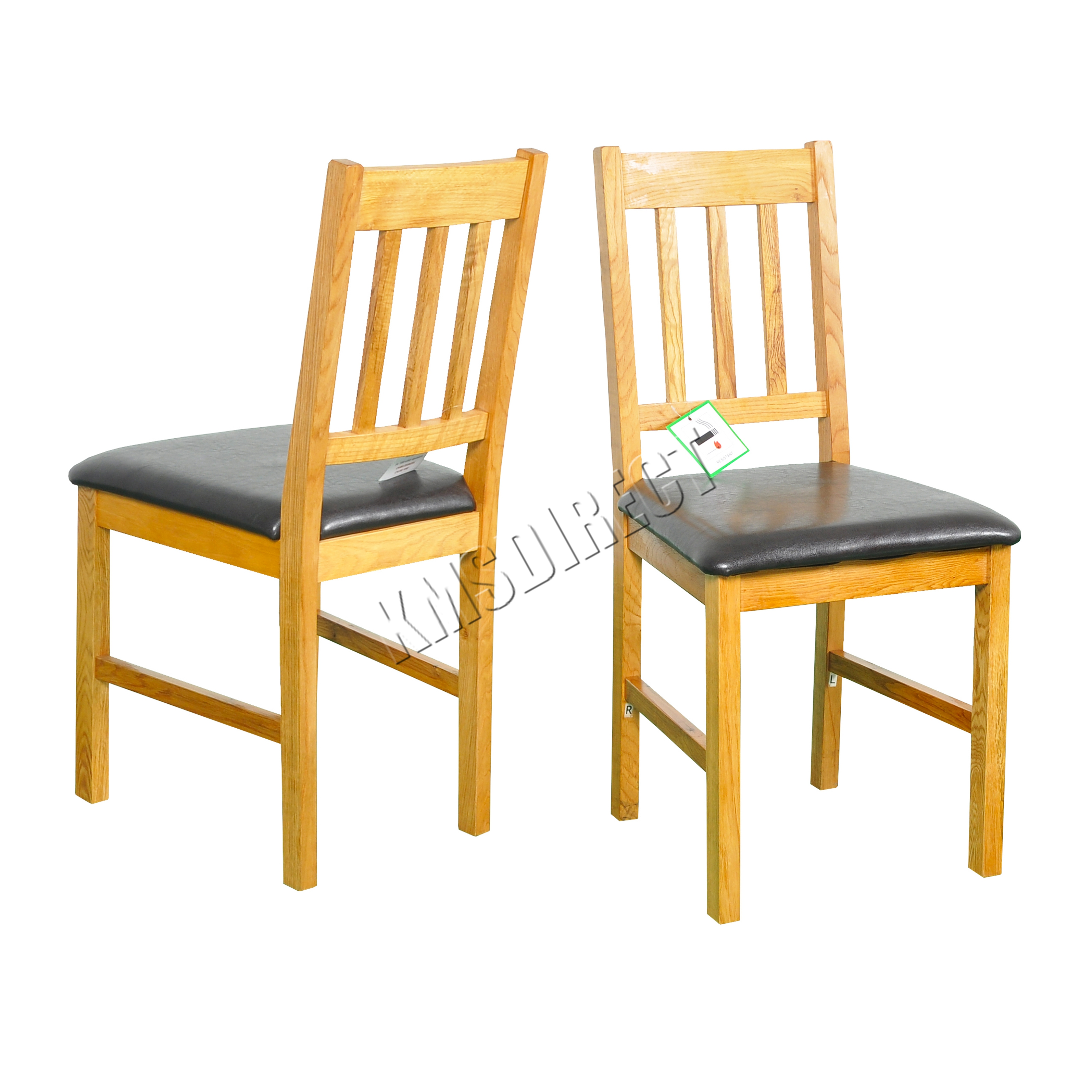 35 unfinished kitchen chairs Wonderful image of 2X Solid Wooden Oak Dining Chair Set With PU Kitchen Furniture FH OF01