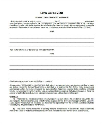 43+ Commercial Agreement Examples & Samples - PDF, Word, Pages | Examples