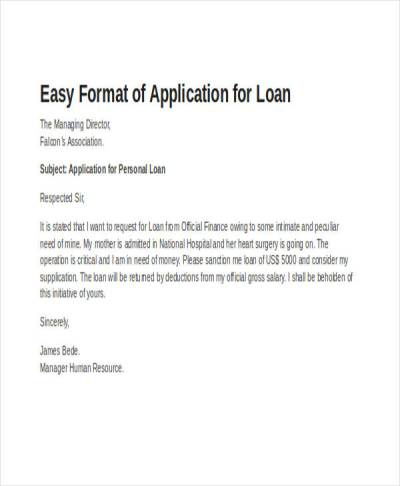 52+ Application Letter Examples & Samples - PDF, DOC | Examples