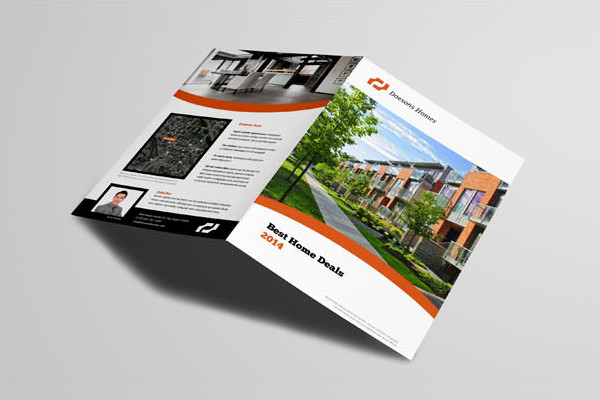 41  Real Estate Brochure Designs   Examples   PSD  AI  Vector EPS Free A4 Real Estate Brochure