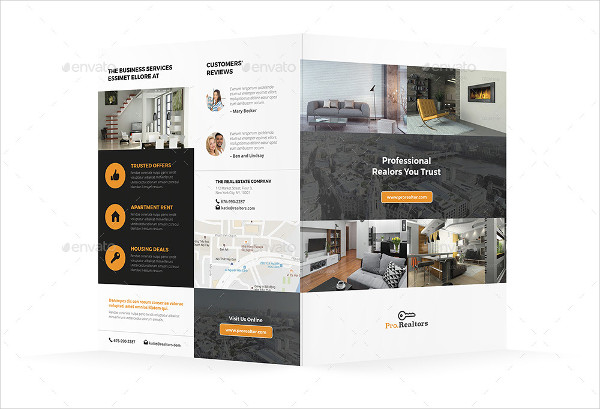 41  Real Estate Brochure Designs   Examples   PSD  AI  Vector EPS modern real estate bi fold brochure