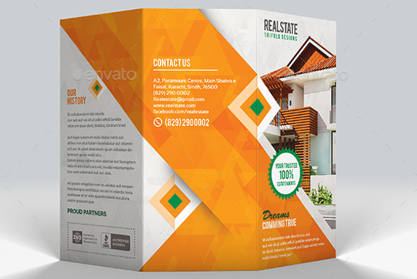 41  Real Estate Brochure Designs   Examples   PSD  AI  Vector EPS modern real estate tri fold brochure1