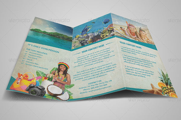 15  Examples of Travel Brochure Design   PSD  AI  Vector EPS Vintage Travel Brochure