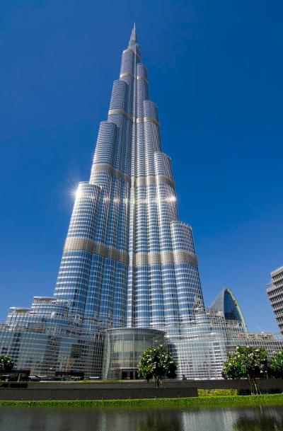 View Of Burj Khalifa Hotel Dubai Photograph by Charles Bowman