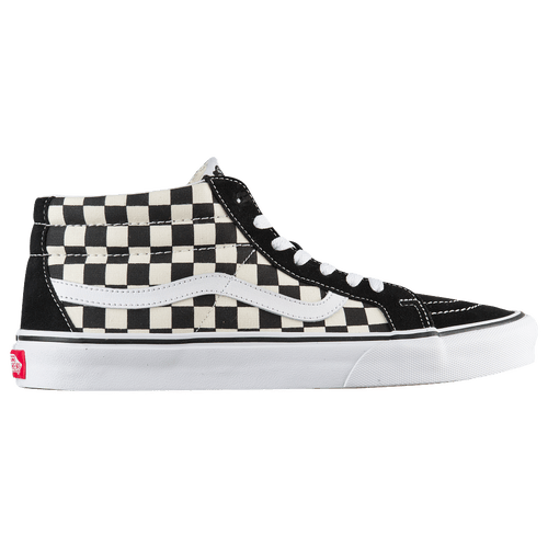 Vans Sk8 Mid   Men s   Casual   Shoes   Checkerboard True White