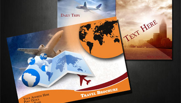 Free PSD Travel Brochure Design Templates     FreeCreatives img  Now create stylish travel brochures