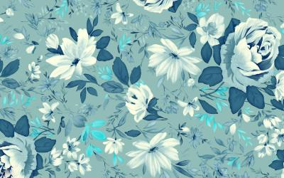 Blue Floral Wallpapers | Floral Patterns | FreeCreatives