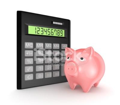 Calculator and Pink Piggy Stock Photos - FreeImages.com