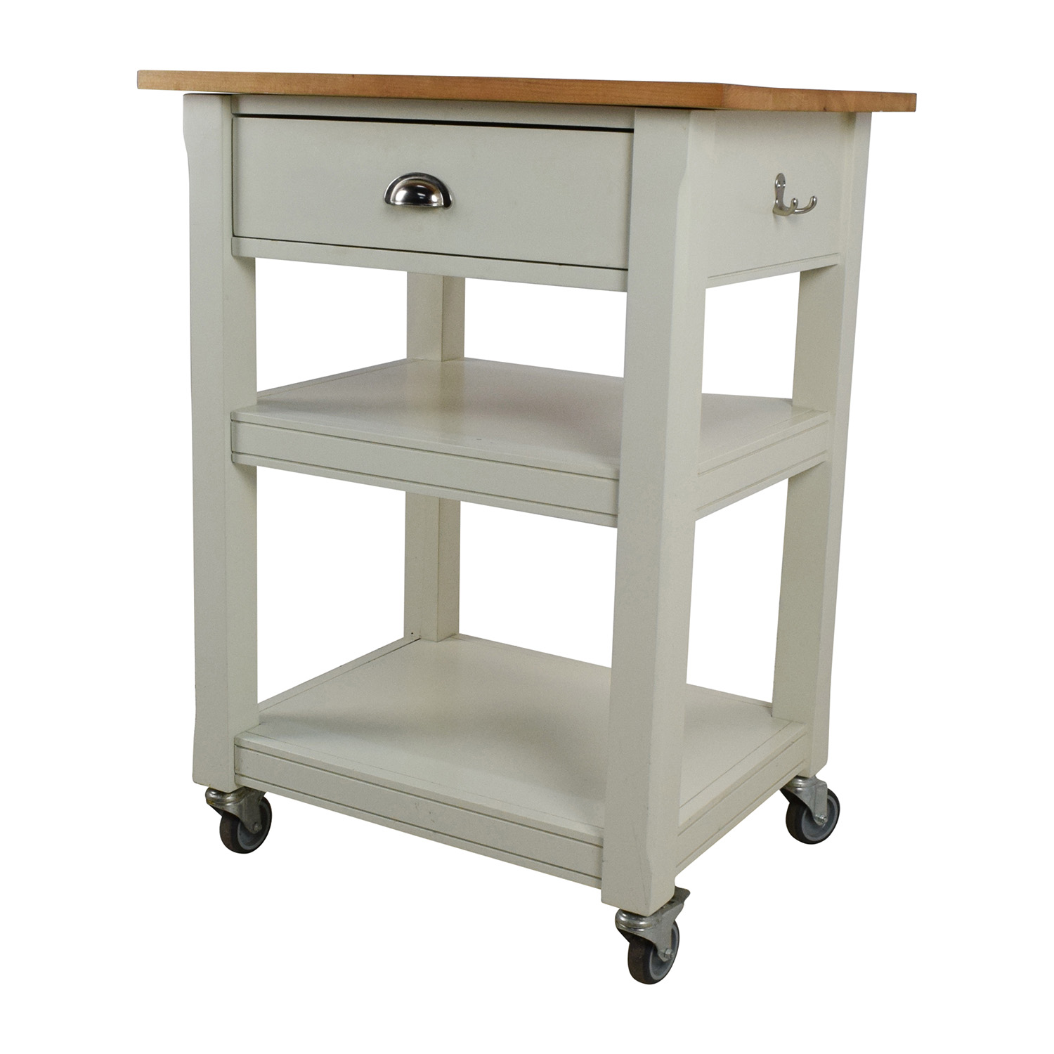 second hand rolling kitchen cart with cutting board kitchen utility table Utility Tables shop Rolling Kitchen Cart with Cutting Board online