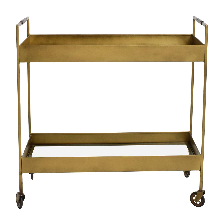 utility tables kitchen utility table shop Crate and Barrel Crate Barrel Libations Bar Cart online