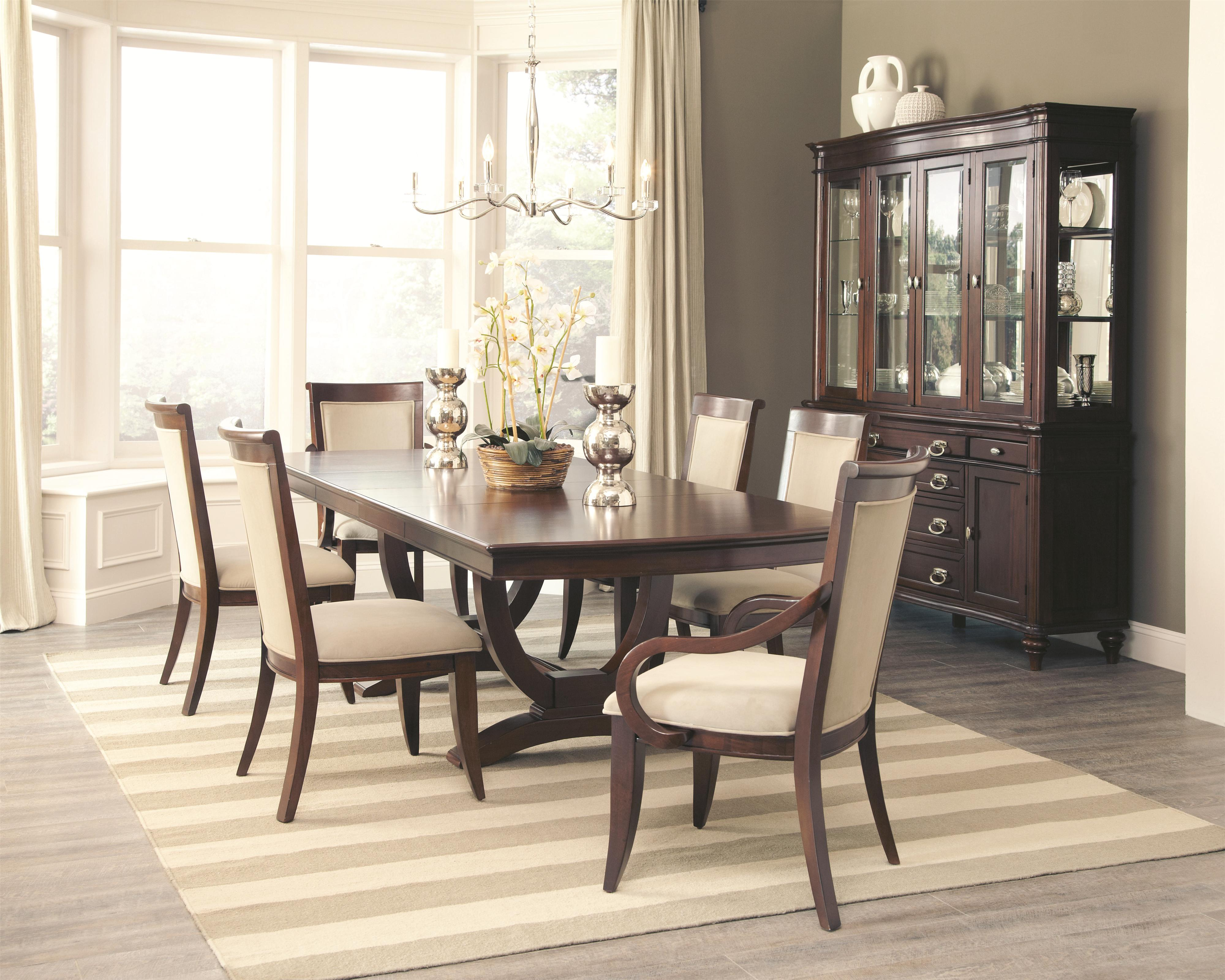 kitchen table chairs Coaster Alyssa Dining Table and 4 Side Chair and 2 Arm Chair Set Value City Furniture Dining 7 or more Piece Sets