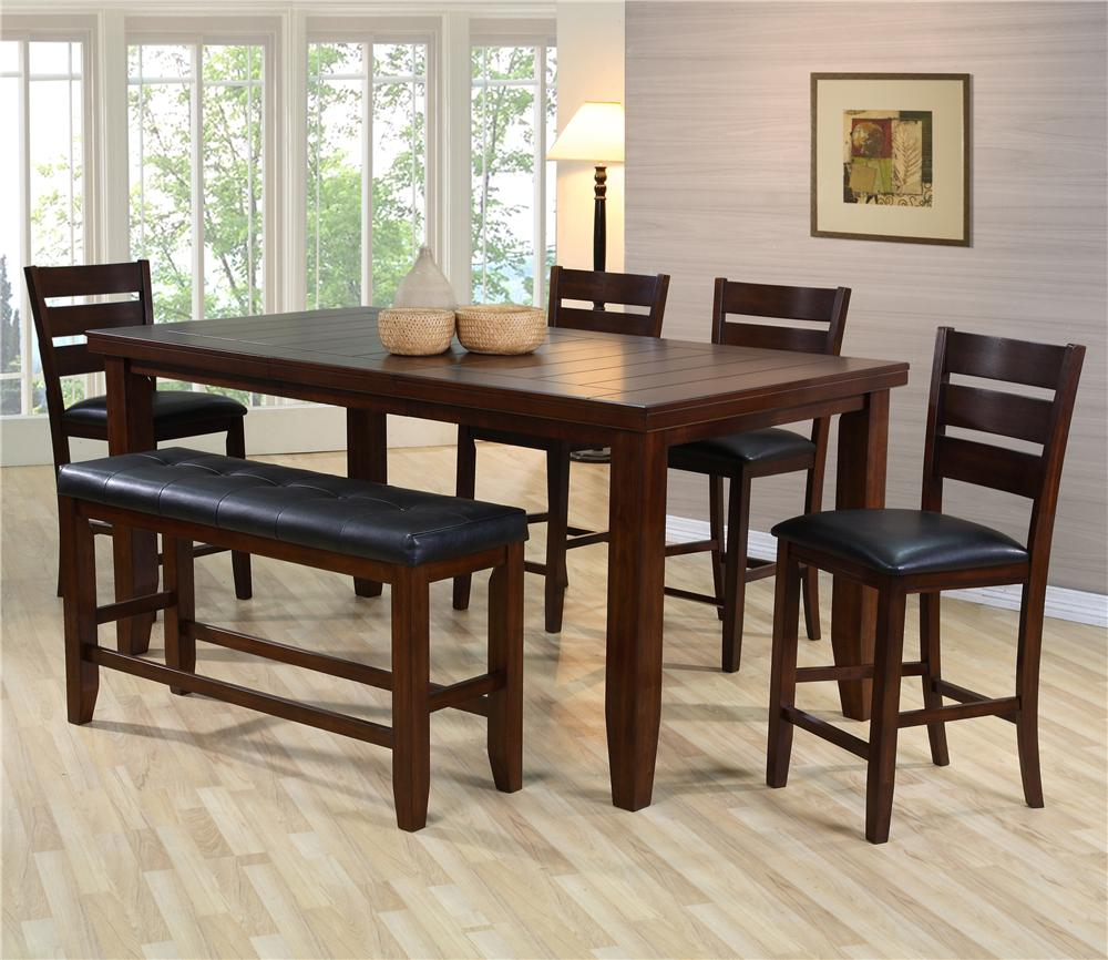 item kitchen table chairs 7 Piece Dining Table Set w 5 Chairs 1 Bench Bardstown by Crown Mark Wilcox Furniture Table Chair Set with Bench Corpus Christi Kingsville
