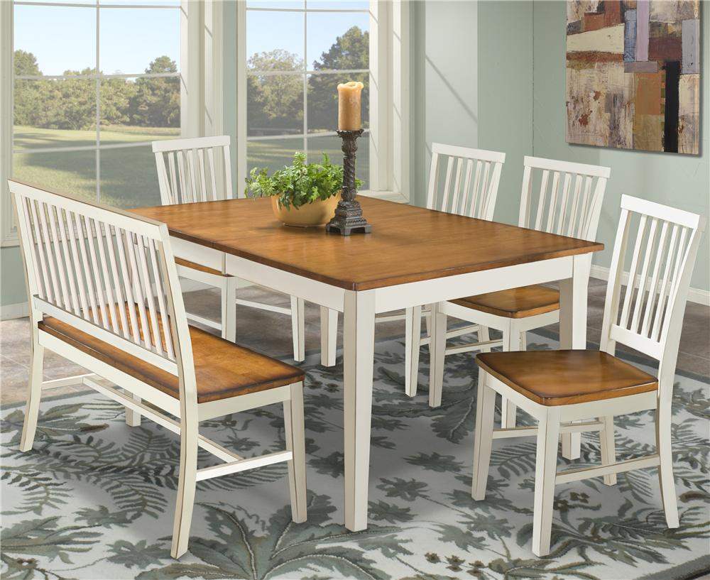 kitchen table bench Intercon Arlington Dining Table Bench Side Chairs Item Number AR TA