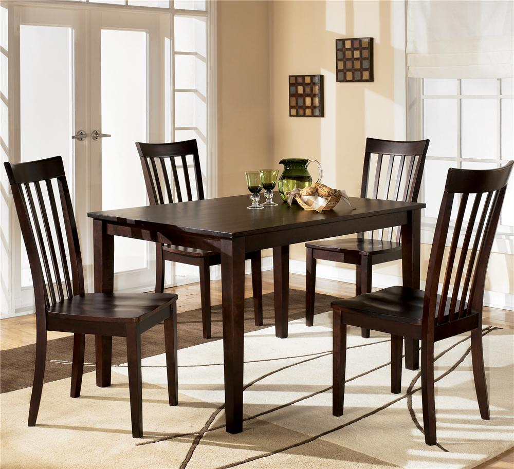 kitchen table and chairs Ashley Furniture Hyland Rectangular Dining Table with 4 Chairs Item Number D