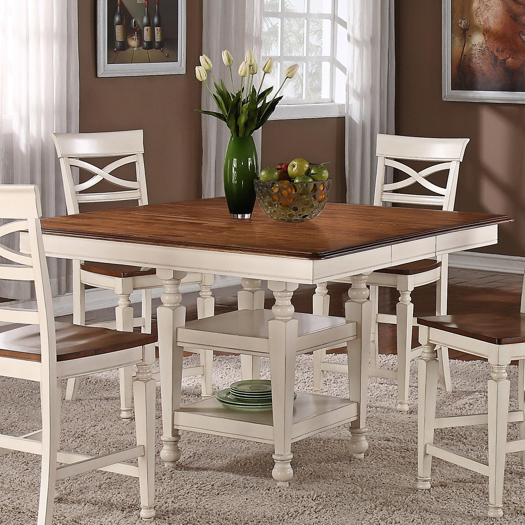 item counter height kitchen tables Holland House Dining Counter Height Storage Table