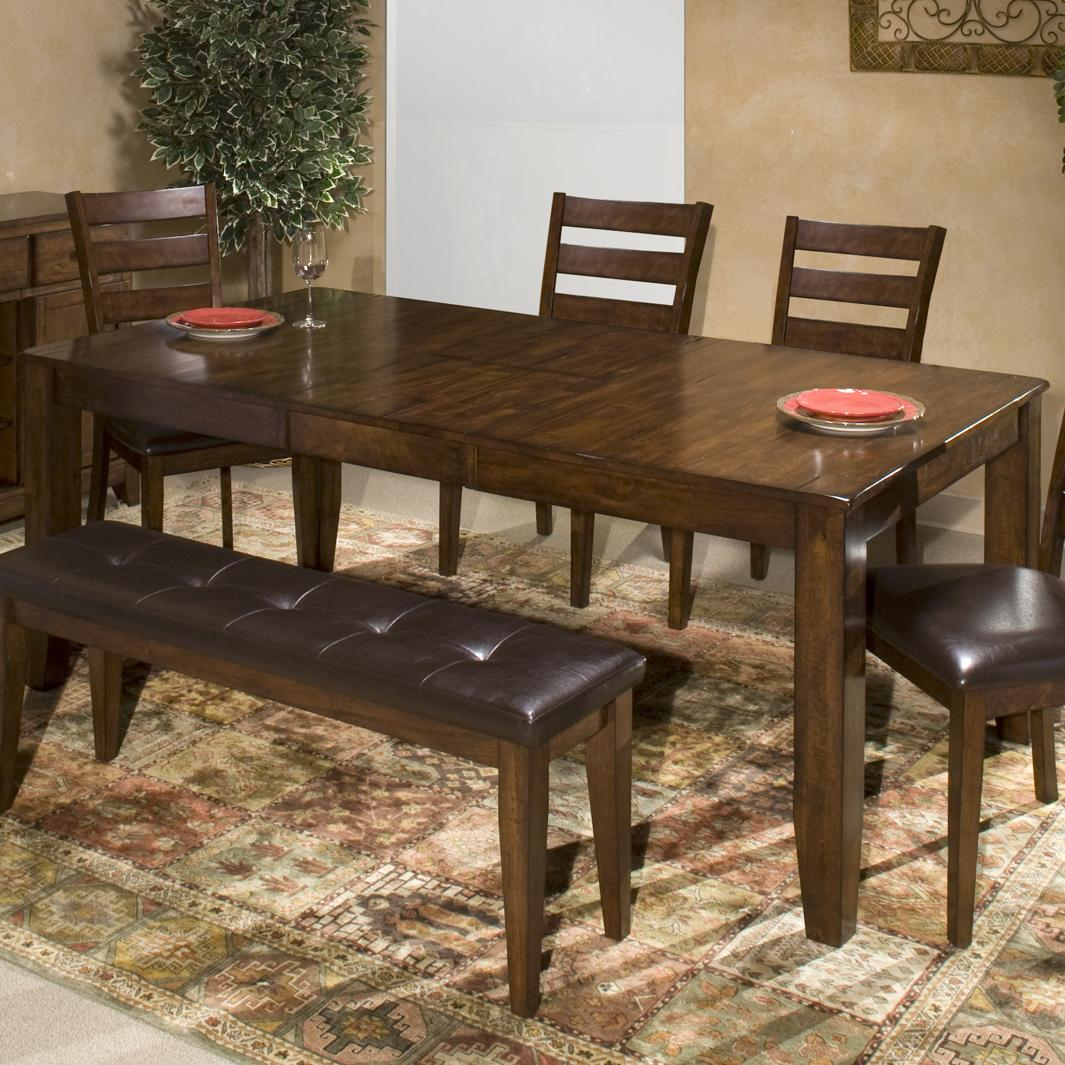 kitchen table with leaf Belfort Select Cabin Creek Dining Table with Butterfly Leaf Item Number KA TA