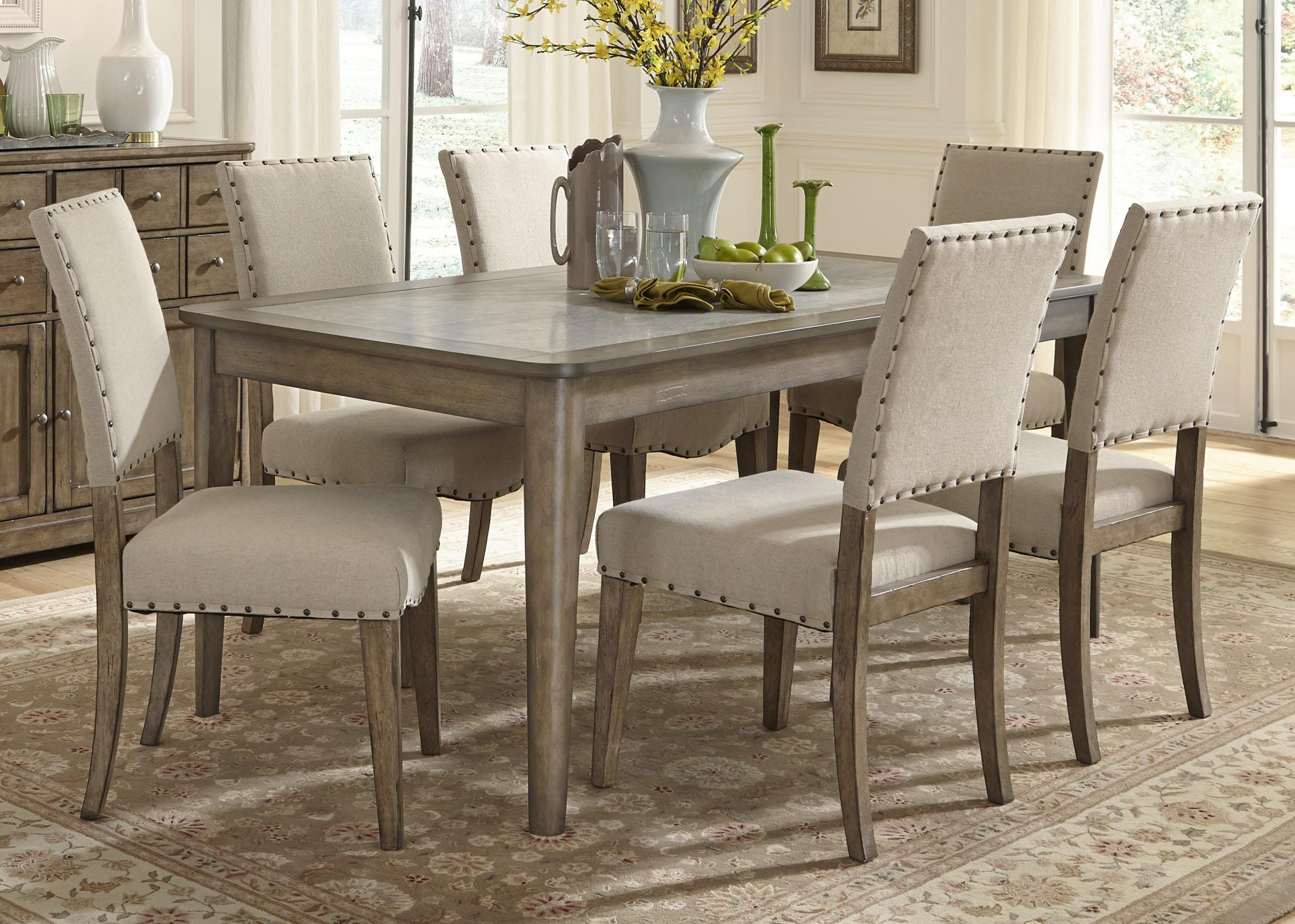 kitchen table and chairs Liberty Furniture Weatherford 7 Piece Dining Table and Chairs Set Item Number